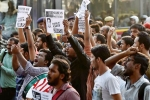 Police Detains 250 Students In Rally In Support Of Najeeb Ahmad